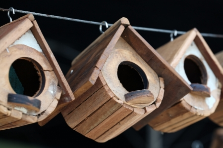 wooden bird house background  photo