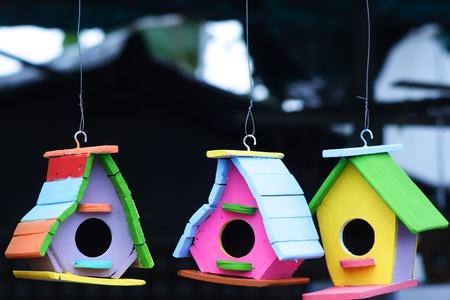 bird house: colorful bird house  Stock Photo
