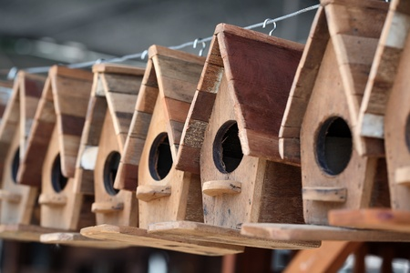 simply wooden bird house photo