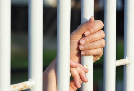 illegal immigrant: hand in jail