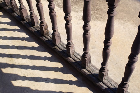 balustrade: Architectural element - wooden balustrade and it