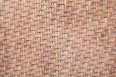 Native Thai style bamboo wall, natural wickerwork  photo