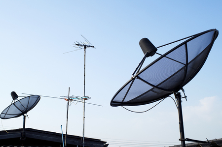 Satellite Dish and TV Antenna  photo
