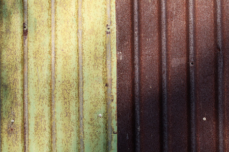 Rusty corrugated metal wall texture background  photo