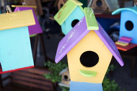 bird house: colorful bird house. Stock Photo