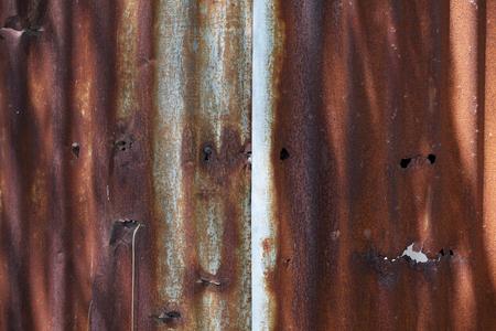 corrugate: rusty corrugate zinc wall