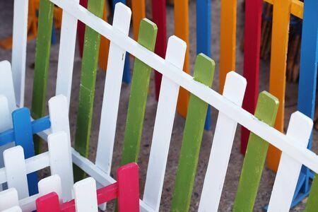 lath: colorful wooden lath
