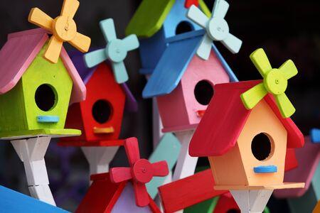bird house: colorful bird house