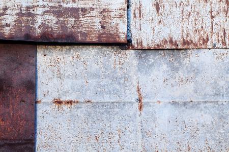 corrugate: grunge corrugate zinc wall Stock Photo