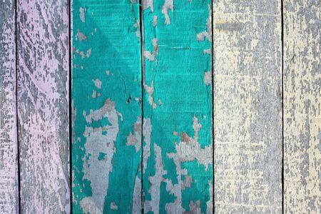 peeling: grunge peeling wooden panel Stock Photo
