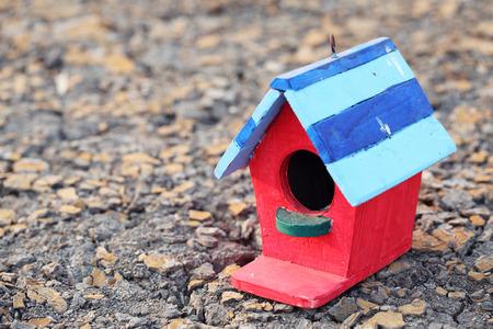 dry land: Bird house on dry land
