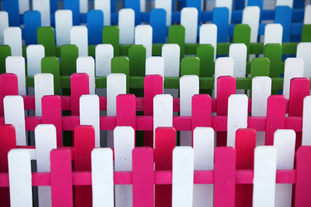 lath: colorful lath as background. Stock Photo