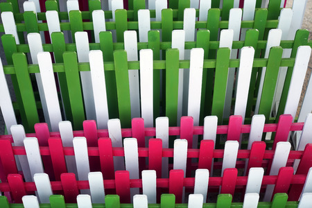 lath: colorful wooden lath as background.