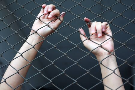 jail: hand in jail