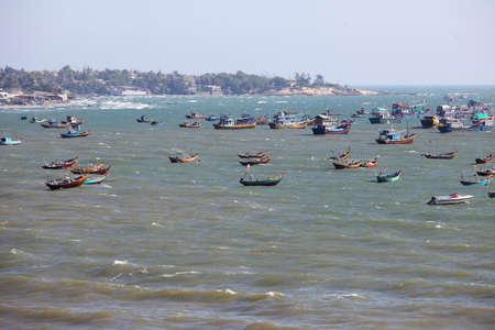 fishery: fishery village in muine,vietnam.