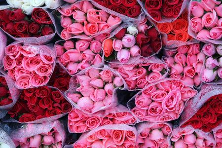 aniversario de boda: fondo de colores rosas.