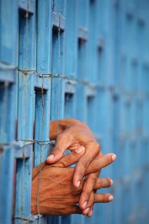 arrest women: prisoner in jail