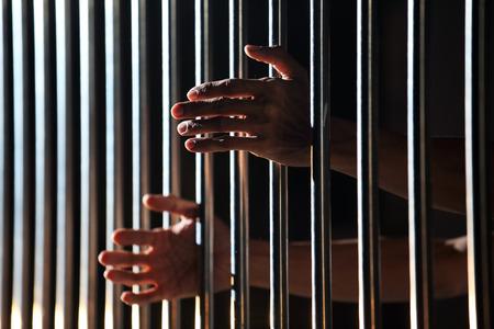 carcel: mano en la cárcel Foto de archivo