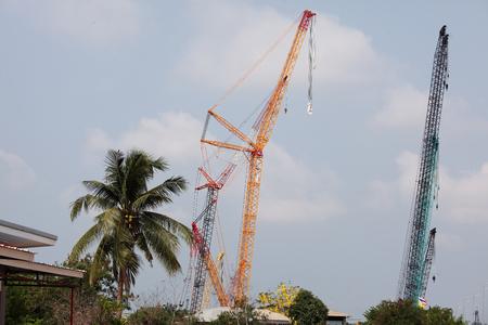 machinery: large crane machinery Stock Photo