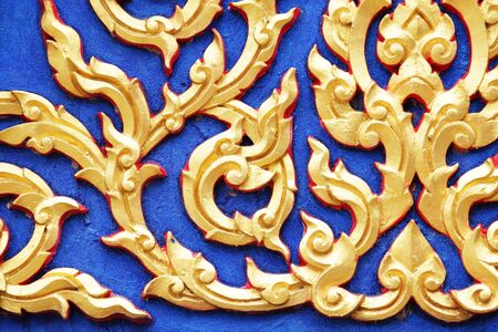 thai motifs: thai style stucco pattern background.