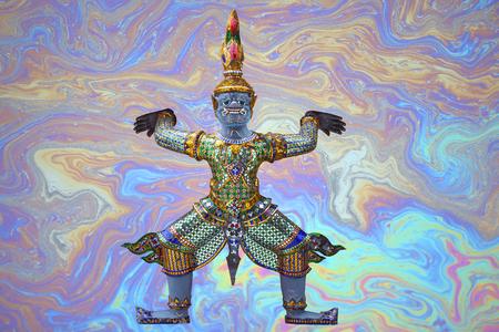 幻想の背景に伝統ラーマーヤナ悪魔。