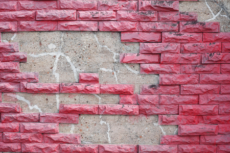 red wall: grunge red brick wall