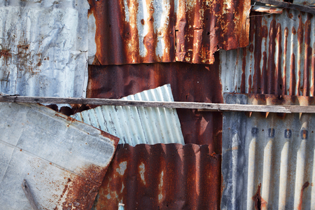 texture of rusty corrugated metal background.