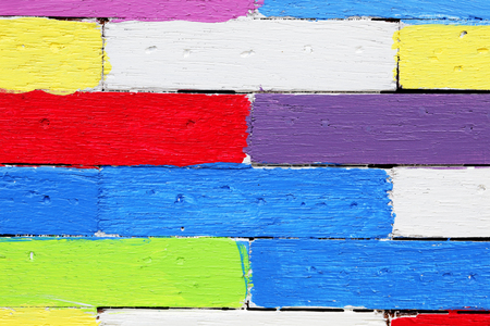 colorful wooden panel wall background
