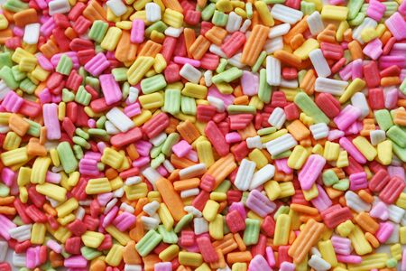 colorful  sprinkles grainy sugar background 写真素材 - 131660036