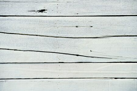 close up of grunge cracked white wooden panel background Imagens - 148267488