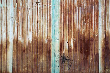 grunge rusty weathered corrugate wall background