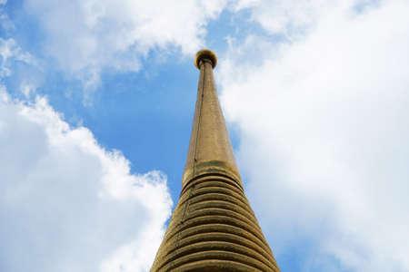 golden pagoda against blue sky Stock Photo