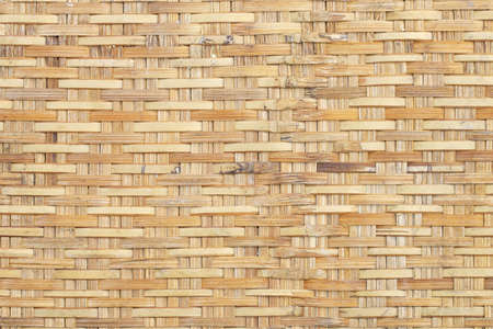 tradition thai bamboo weaver wicker background Stock Photo