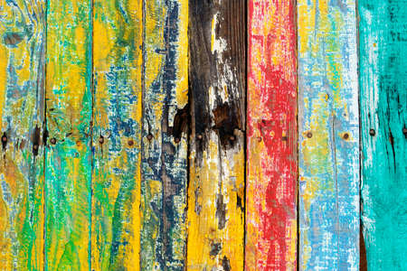 Grunge colorful painted wood wall background