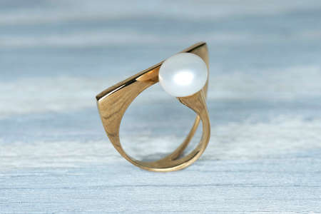 diamond rings: Jewelry ring on old wooden table