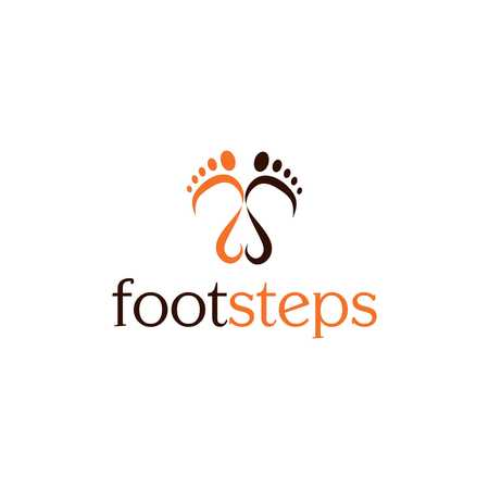 Footsteps vector illustration