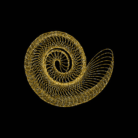 pixelated: Nautilus vector illustration Illustration