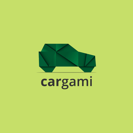 Origami car vector illustration Иллюстрация