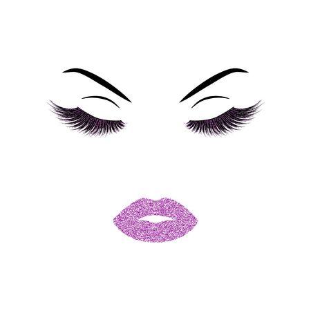 Makeup vector illustration Иллюстрация