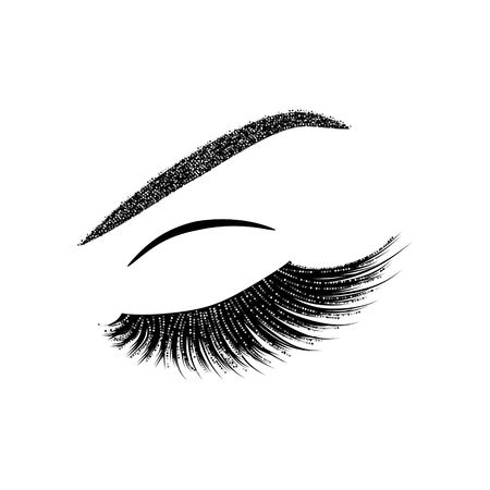 Wimpern Vektor-Illustration Standard-Bild - 81007400