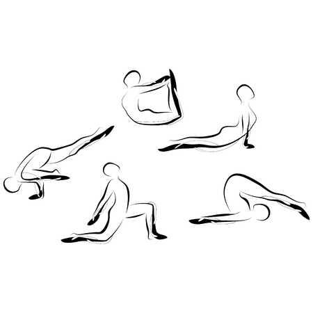 Set di yoga astratto pone