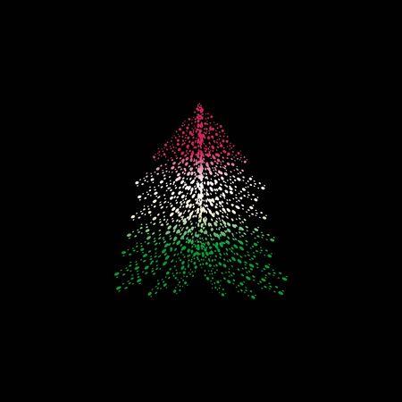 Christmas tree and Bulgaria flag design.