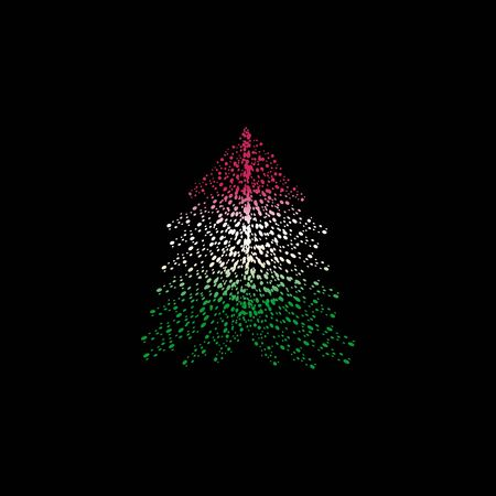 Christmas tree and Bulgaria flag design.