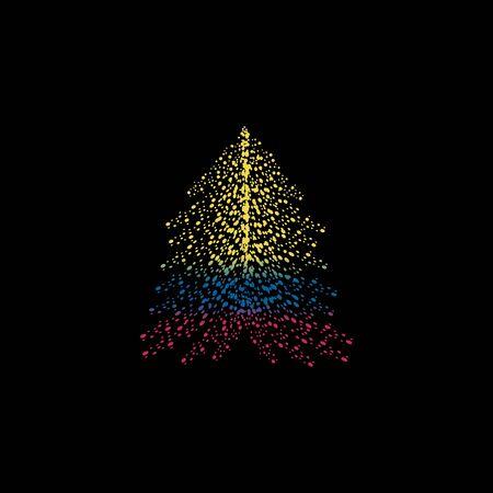 크리스마스 트리와 컬럼비아 깃발