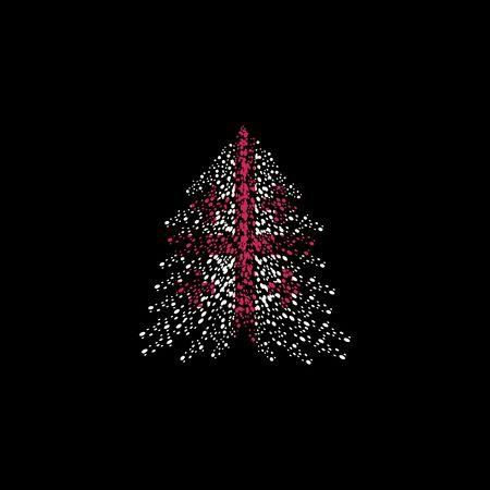 Christmas tree and Georgia flag Illusztráció