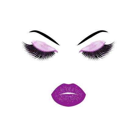 Makeup illustration.