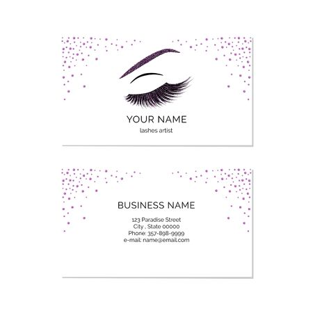 makeup artist business card vector template stock vector 92543581 - Eyelash Business Cards