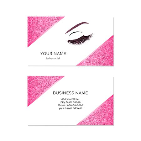 Makeup artist business card vector template