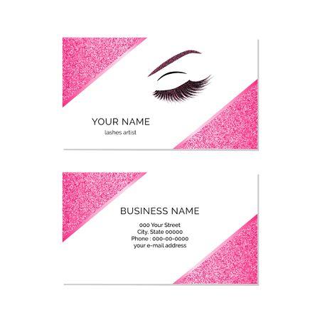 Sjabloon voor visitekaartjes vector make-up artiest