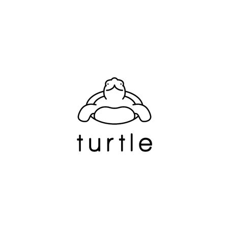 Turtle animal vector illustration Vectores